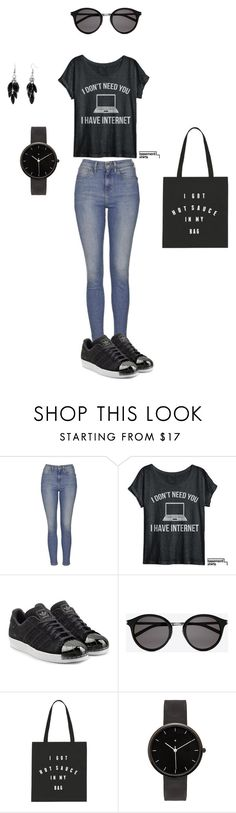 """""""Untitled #13"""" by elma-camdzic ❤ liked on Polyvore featuring Topshop, adidas Originals, Yves Saint Laurent, I Love Ugly, Alexa Starr, women's clothing, women, female, woman and misses"""