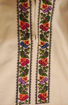 Este foarte frumoasa Folk Fashion, Hobbies And Crafts, Floral Tie, Cross Stitch, Embroidery, Handmade, Embroidered Clothes, Cross Stitch Art, Embroidery Stitches