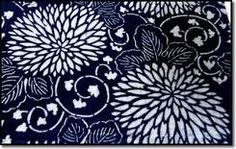 Japanese Katazome is a Japanese originated method of dyeing textiles with a resistant rice paste applied through a paper stencil (katagami). Japanese Textiles, Japanese Patterns, Japanese Fabric, Japanese Rice, Motifs Textiles, Textile Patterns, Textile Design, Blue And White Fabric, Japanese Symbol