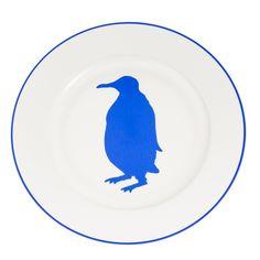 Alice Peto Penguin Main Plate 26cm Blue | Prezola - The Wedding Gift List