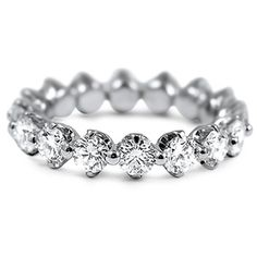 Compass Point Prong Eternity Ring, top view