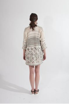 Shop Young & Able Emerging Designer: http://www.shopyoungandable.com JESSICA VELEZ  MACRAME DARI CARDIGAN  $898.00