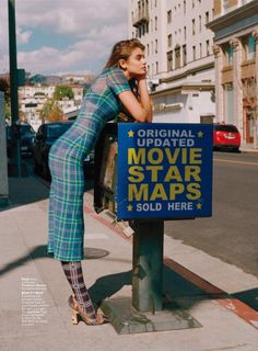 Taylor Hill Takes On Hollywood in Spring Looks for InStyle All Fashion, Fashion Advice, Street Fashion, Fashion Trends, Tartan, Taylor Hill Style, Best Fashion Photographers, Fendi Dress, Vogue