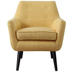 Dot & Bo Lydia Linen Chair (1.525 BRL) ❤ liked on Polyvore featuring home, furniture, chairs, accent chairs, linen chair, mustard yellow chair, mustard chair and linen furniture