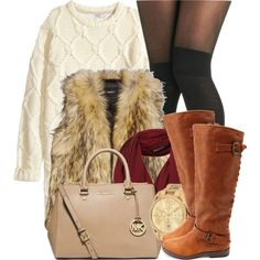 A fashion look from November 2014 featuring H&M dresses, Unreal Fur vests and Pretty Polly tights. Browse and shop related looks.