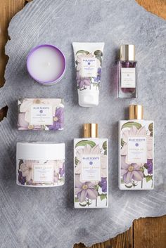 Violet Beauty in Blue Scents