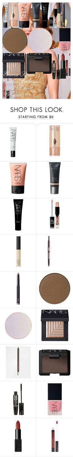 """Emma Stone Oscars Makeup 2017 (Exact Products)"" by oroartye-1 on Polyvore featuring beauty, NARS Cosmetics, Charlotte Tilbury, Cover FX, Kat Von D, Pixi, TheBalm and Anastasia Beverly Hills"