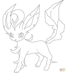 Leafeon Coloring Page From Generation IV Pokemon Category Select 27278 Printable Crafts Of Cartoons Nature Animals Bible And Many More