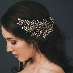 Gorgeous Pearls Hair Jewelry Wedding Tiaras Headbands For Women 2018 Leaf Gold and Silver Prom Party Bridal Headpieces Casament Bridal Headdress, Bridal Headpieces, Wedding Headband, Wedding Crowns, Tiara Hairstyles, Wedding Hairstyles, Hair Ornaments, Wedding Hair Accessories, Accessories Shop