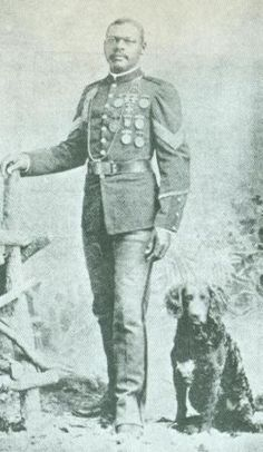 Horace Waymon Bivins, buffalo soldier.   Bivins was eventually stationed with the regiment at Fort Grant in Arizona Territory. There he took part in the campaign against Geronimo during the final days of the Apache wars in the Southwest.  An expert marksman, Bivins won eight medals and badges given by the War Department in shooting competitions between 1892 and 1894