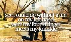 See I could do without a tan, on my left hand, where my fourth finger meets my knuckle... Ed Sheeran!