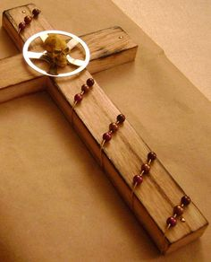handmade decorative wooden cross by theevintageshop on Etsy, $10.00