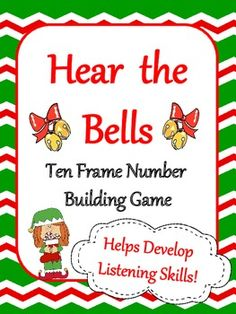 FREE ten frame game gives kids a chance to stop and hear the bells while working with numbers through twenty.