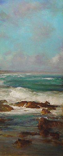 """""""Seascape"""", Oil on Linen, 35 x 85 cm, by John McCartin:"""