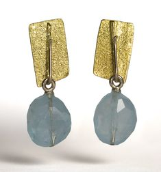 MARCO BORGHESI - Earrings: Gold and Aquamarine - #veronaforever - #marcoborghesi - #orodesigns - #prismadiamante - #galleriaborghesi - #aquamarine