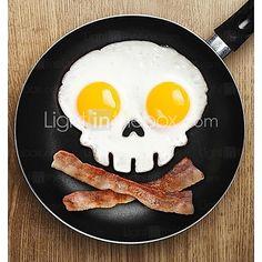 Skull Shape Egg Frying Ring, Silicone Material, Random Colors | LightInTheBox
