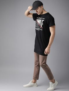 Buy Moda Rapido Men Black Printed Round Neck T Shirt - Tshirts for Men 5613445 | Myntra