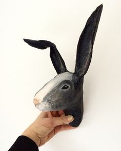 Hare/bunny paper mache Made by Susan meijerink For sale