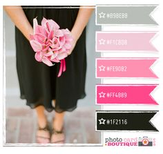 so chic! Pink, black & gray color palette