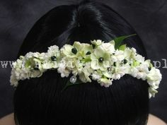 kalanchoe + ornitogalum Communion, Orchids, Garland, Crown, Flowers, Head Bands, Corona, Royal Icing Flowers, Crowns