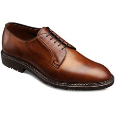 Badlands - Plain-toe Lace-up Oxford Men's Comfort Shoes by Allen... (32390 RSD) ❤ liked on Polyvore featuring men's fashion and men's shoes