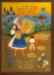 Zuzana Vaňousová - Slovakia Contemporary Decorative Art, Heart Of Europe, Forms Of Communication, Naive Art, Traditional Outfits, Flower Art, Folk Art, Activities For Kids, History