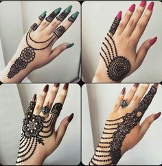 Beautiful henna inspo 😍😍😍😍😍 Which design is your fav? Palm Henna Designs, Peacock Mehndi Designs, Indian Henna Designs, Finger Henna Designs, Mehndi Designs For Beginners, Modern Mehndi Designs, Mehndi Designs For Girls, Mehndi Designs For Fingers, Beautiful Henna Designs