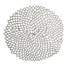 Gunmetal Dahlia Placemat by Chilewich: Made of vinyl, also available in gold. $7.95  #Placemat #Dahlia #Chilewich #crateandbarrel