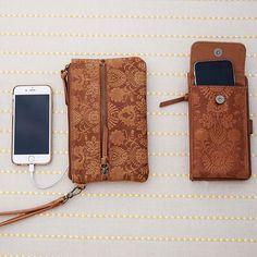 Floral Embossed Phone Wallet