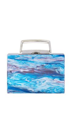 Greg Ribbon In Blue Tie Dye And Sapphire by Edie Parker for Preorder on Moda Operandi