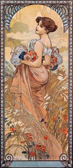 Alphonse Mucha - The Seasons: Summer