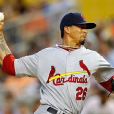 Kyle Loshe looking fierce in the Cards 4-1 Opening Day win over the Marlins.