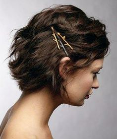 Before slipping a bobby pin in your hair, spray it with dry shampoo to keep it in place.