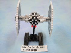 3D perelerebeads アイロンビーズ StarWars TIE fighter: 3DPerlerBeadsお手軽頑固な立体アイロンビーズ