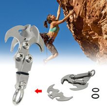 Grappling Hook Stainless Steel EDC Tool Survival Grappling Climbing Claw Outdoor