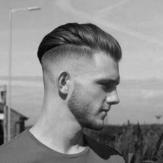 Pompadour High Fade Mens Hairstyle