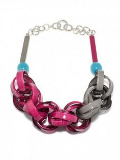 I love statement necklaces and really like this one - the curated accessory - lucite links necklace $79