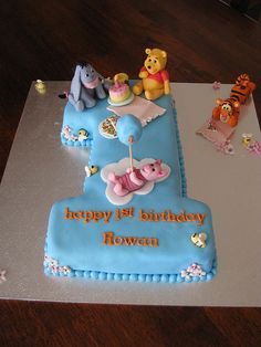 first birthday cakes | Winnie the Pooh & Friends 1st birthday cake | Flickr - Photo Sharing!