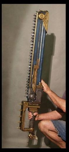 I am selling a VERY RARE Warhammer Space Marine Chainsword Replica that I won. Cosplay Weapons, Sci Fi Weapons, Fantasy Weapons, Hidden Weapons, Larp, Space Marine, Warhammer 40k, Steampunk Sword, Dieselpunk