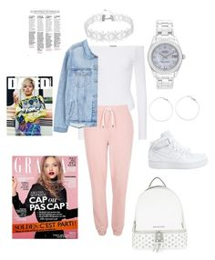 """""""MK"""" by reginaj1021 on Polyvore featuring ATM by Anthony Thomas Melillo, River Island, MANGO, Rolex, NIKE and MICHAEL Michael Kors"""