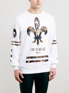 Criminal Damage White Sweatshirt*