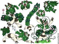 Shamurell , Shaman Pokémon (Grass/Psychic) by 50 sfumature di Heliolisk fb