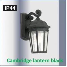 Cambridge Exterior Wall Light from Cougar Lighting, Outdoor Garden Lighting, Led Outdoor Wall Lights, Traditional Wall Lighting, Exterior Wall Light, Black Lantern, Wall Brackets, Save Energy, Cambridge, Lanterns