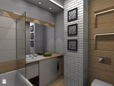 Mieszkanie z ludowym akcentem 60 m2 - Średnia łazienka w bloku bez okna, styl rustykalny - zdjęcie od CKkwadrat