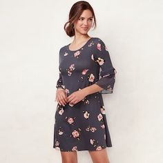 3b2e9f5be37 Women s LC Lauren Conrad Bell Sleeve Swing Dress