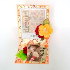 """Dream Easel Fold Card by Dana Tatar for the Gecko Galz 6th Annual Blog Hop created using the Gecko Galz """"She is so Lovely"""" Collage Sheet, the Gecko Galz Pocket Full of Posies Digital Paper Pack, and the 7 Gypsies Poses and Reflections patterned paper. Stop by for a FREE collage sheet!"""