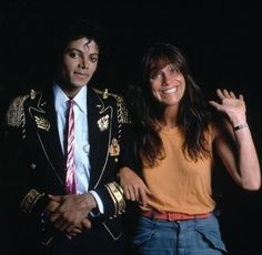 Michael Jackson and photographer Lynn Goldsmith