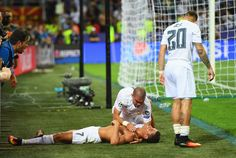 Cristiano Ronaldo of Real Madrid takes off his shirt in celebration after scoring the winning penalty in the penalty shoot out during the UEFA Champions League Final match between Real Madrid and Club Atletico de Madrid at Stadio Giuseppe Meazza on May 28, 2016 in Milan, Italy. (May 27, 2016 - Source: Laurence Griffiths/Getty Images Europe)