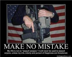 "My rifle is not an ""assault weapon""..."