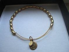Alex and Ani Jordan Beaded Bangle in Russian Gold bracelet #AlexandAni #Beaded